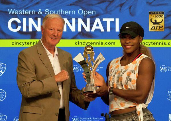 Американка Серена Уильямс стала победительницей теннисного турнира в Цинциннати