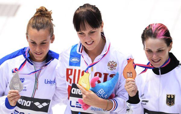 Таня Каньотто, Надежда Бажина и Нора Субшински (слева направо)