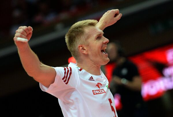 Связующий сборной Польши Павел Загумный
