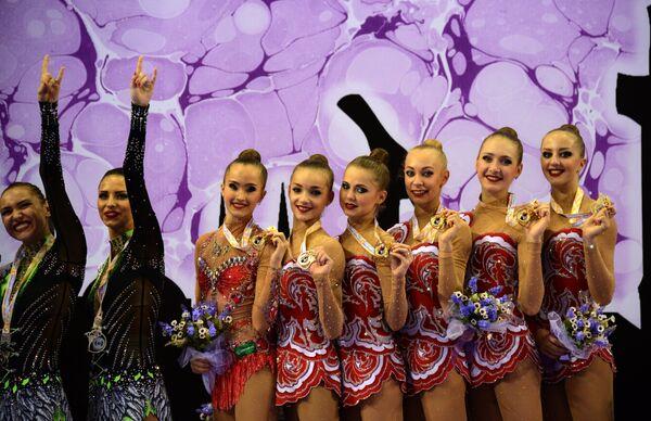Команда России на чемпионате мира по художественной гимнастике