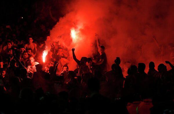 Болельщики Галатасарая на матче Лиги чемпионов