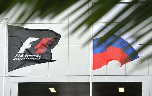 Флаги РФ и Формулы-1