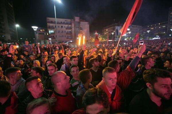 Болельщики Албании устроили беспорядки в Косово