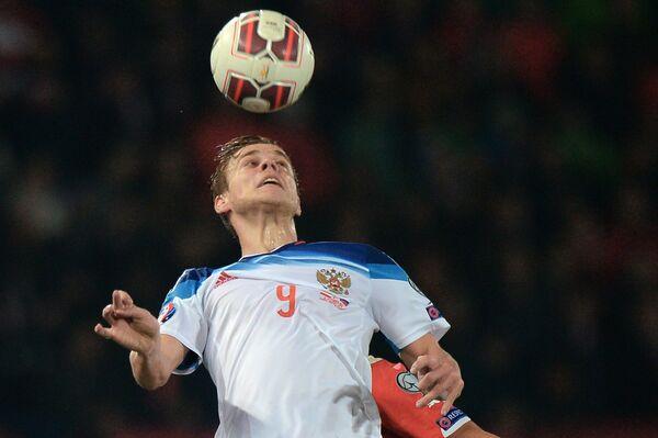 Нападающий сборной России Александр Кокорин