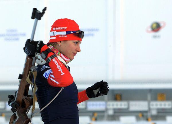 Российская биатлонистка Анна Щербинина