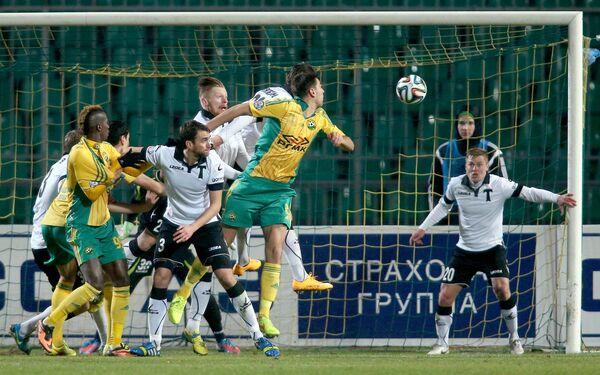 Игровой момент матча Кубань - Торпедо