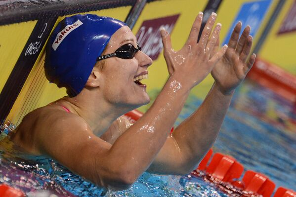 Мирея Бельмонте Гарсия (Испания) на дистанции 400 метров комплекс