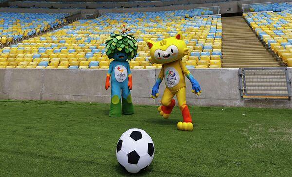 Талисманы Олимпийских и Паралимпийских игр в Рио-де-Жанейро 2016 года - Винисиус (справа) и Том