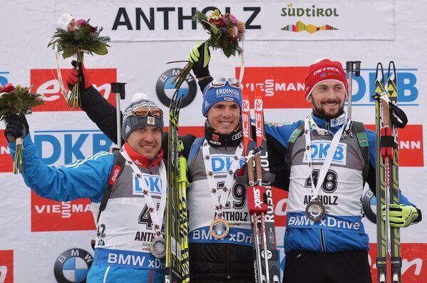 Евгений Гараничев (Россия) – 2-е место, Симон Шемпп (Германия) – 1-е место, Яков Фак (Словения) – 3-е место