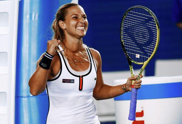 Доменика Цибулкова в матче четвертого круга Australian Open