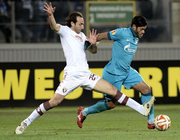 Игровой момент матча Зенит - Торино