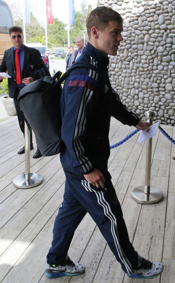 Нападающий сборной России по футболу Александр Кокорин
