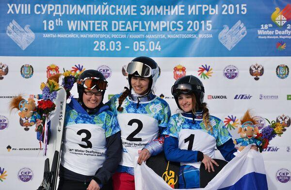 Сесилия Эмма Ханхикоски, Мария Капусткина и Анна Сурмилина (слева направо)