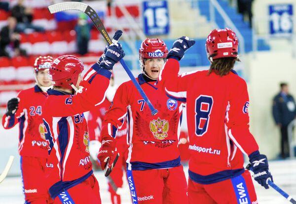 Игроки сборной России по бенди