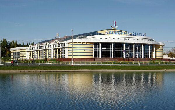 Вид на Ледовый дворец в Саранске