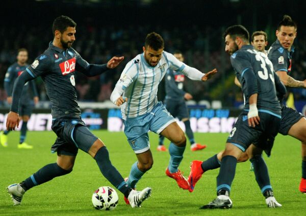 Игровой момент матча Лацио - Наполи