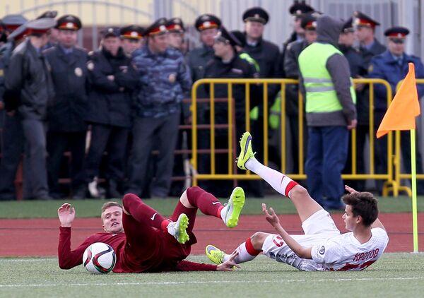 Игровой момент матча Мордовия - Спартак