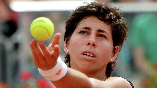 Карла Суарес-Наварро на теннисном турнире в Риме
