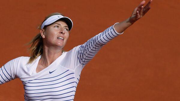 Мария Шарапова во время матча в рамках турниса Ролан Гаррос