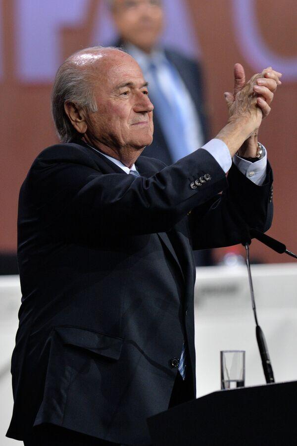 Переизбранный президент ФИФА Йозеф Блаттер