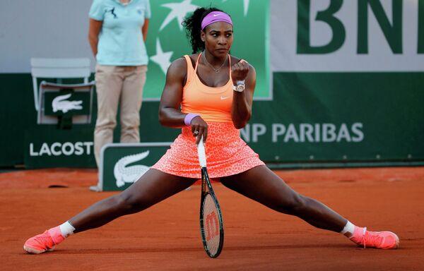 Серена Уильямс на теннисном турнире Ролан Гаррос
