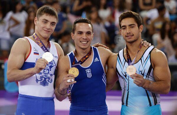 Никита Игнатьев (Россиия), Элефтериос Петруниас (Греция) и Ибрагим Чолак (турция) (слева направо)