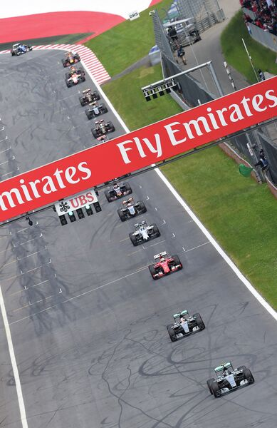 Пилоты Формулы-1 на Гран-при Австрии