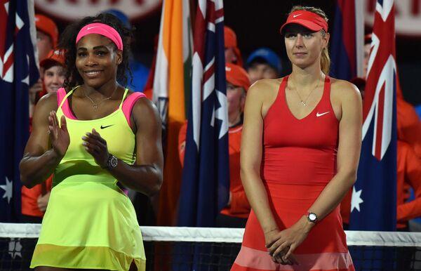 Серена Уильямс и Мария Шарапова (слева направо)