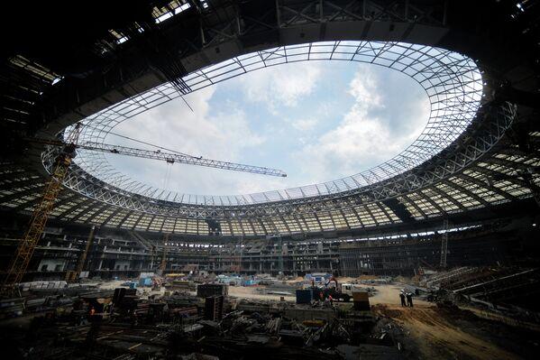 Строительная площадка Большой Спортивной Арены Лужники в Москве