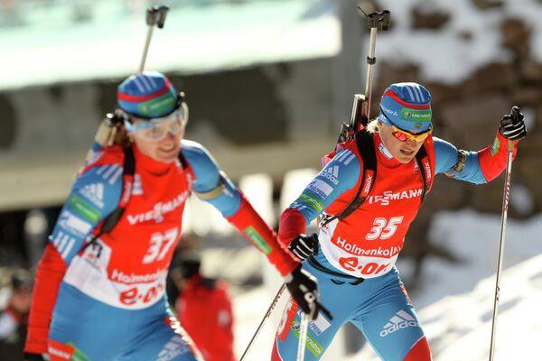 Россиянки Екатерина Юрьева и Ирина Старых (справа налево)