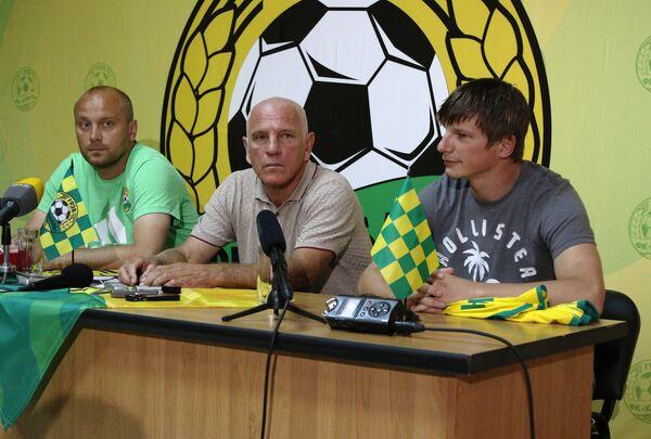 Генеральный директор ФК Кубань Валерий Стаценко и форвард ФК Кубань Андрей Аршавин (слева направо)
