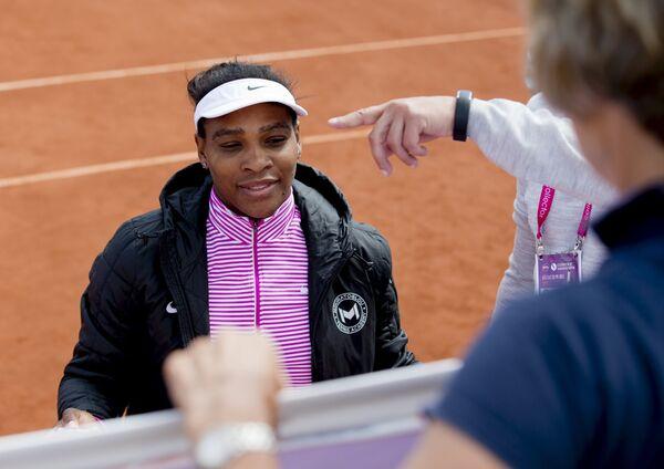 Серена Уильямс на теннисном турнире в Бостаде