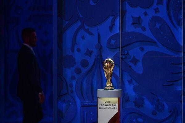 Кубок мира ФИФА на церемонии предварительной жеребьевки чемпионата мира по футболу 2018 по футболу в Константиновском дворце в Стрельне