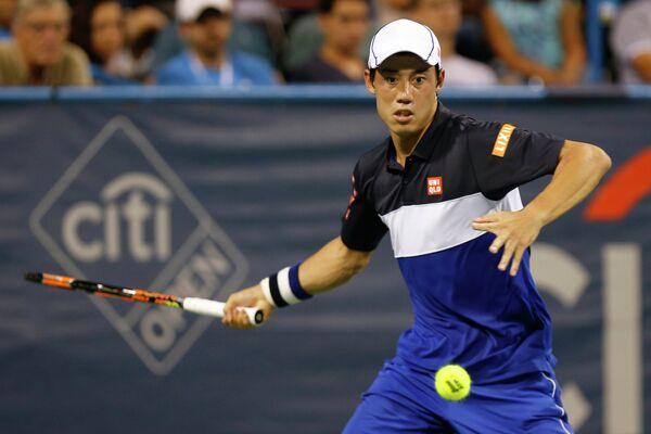 Японский теннисист Кэй Нисикори