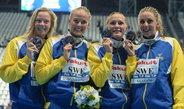 Спортсменки сборной Швеции