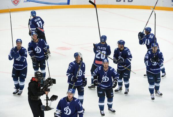 Хоккеисты Динамо благодарят за поддержку своих болельщиков