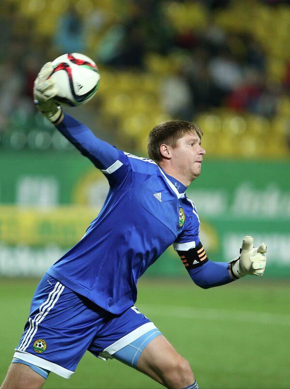Вратарь Кубани Александр Беленов