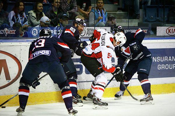 Игровой момент матча Авангард - Слован