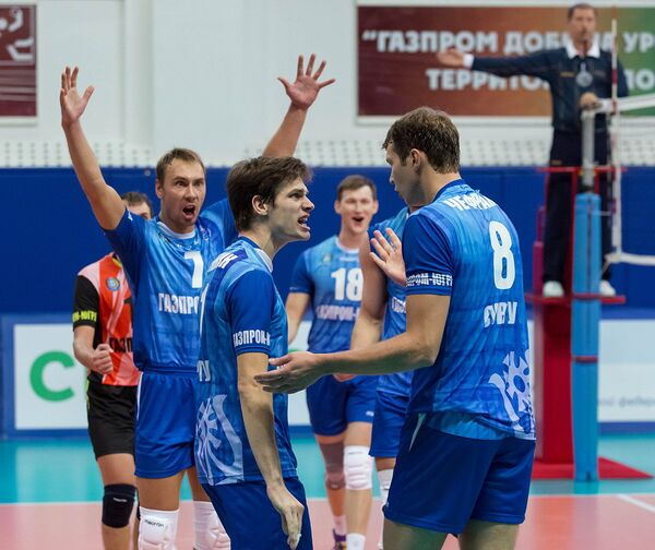 Игроки ВК Газпром-Югра