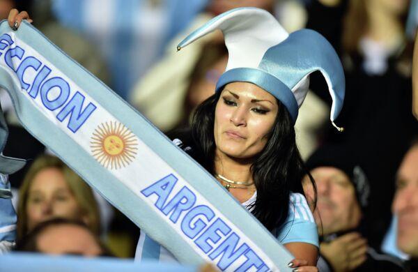 Болельщица сборной Аргентины