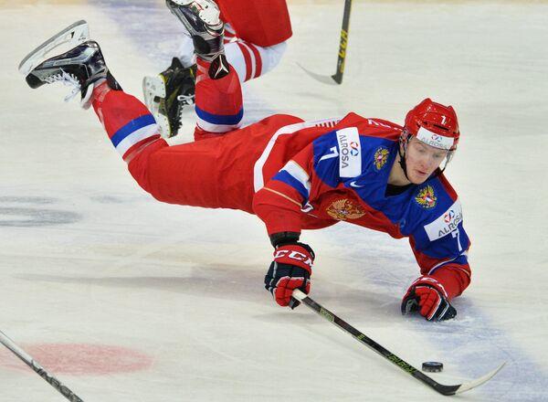 Форвард сборной России Евгений Свечников