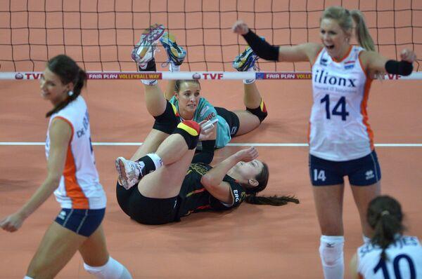 Игровой момент матча Нидерланды - Германия