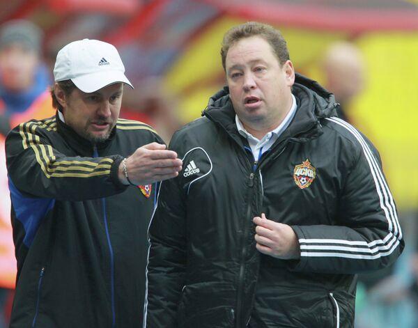 Сергей Шустиков (слева) и Леонид Слуцкий