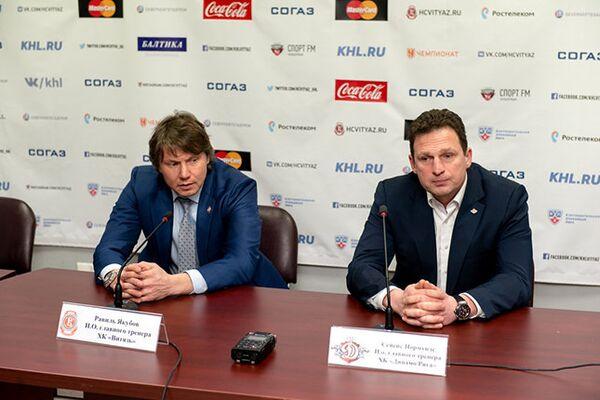 Равиль Якубов и Нормундс Сейейс (слева направо)