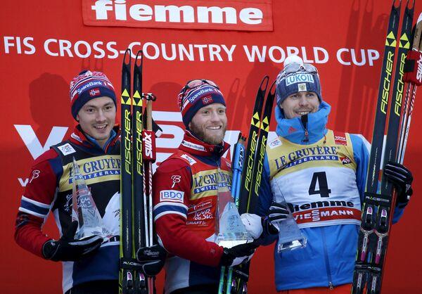 Финн-Хоген Крог, Мартин Йонсруд Сундбю и Сергей Устюгов (слева направо)