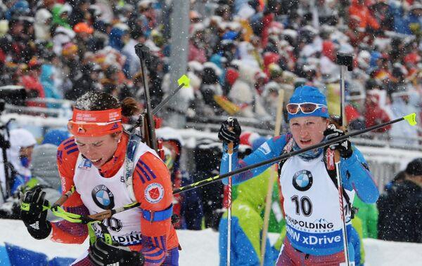 Карин Оберхофер и Ольга Подчуфарова (слева направо)