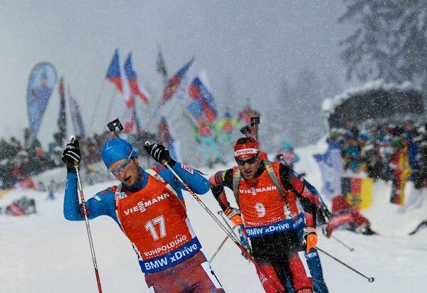 Максим Цветков (Россия) и Симон Эдер (Австрия) (слева направо)
