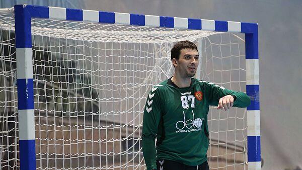 Вратарь сборной России по гандболу Виктор Киреев