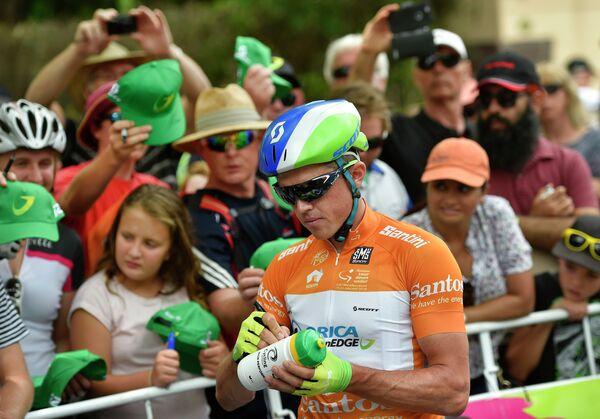 Австралийский велогонщик Саймон Герранс из Orica-GreenEdge