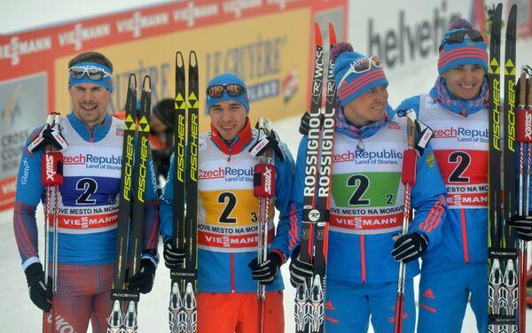 Сергей Устюгов, Алексей Червоткин, Александр Легков и Евгений Белов (слева направо)